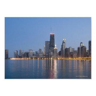Horizonte céntrico de Chicago Invitación 12,7 X 17,8 Cm