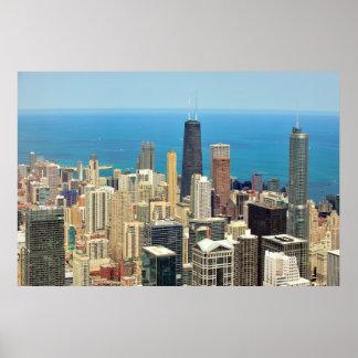 Horizonte céntrico de Chicago Posters