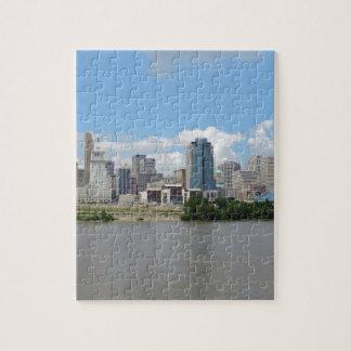 Horizonte céntrico de Cincinnati Rompecabeza Con Fotos