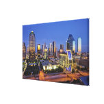 horizonte céntrico de Dallas Impresión En Lona Estirada