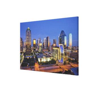 horizonte céntrico de Dallas Lienzo Envuelto Para Galerias