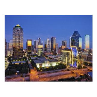 horizonte céntrico de Dallas Tarjetas Postales