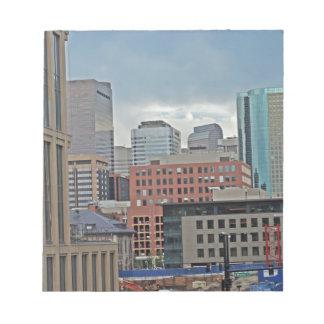 Horizonte céntrico de Denver Colorado Blocs De Notas