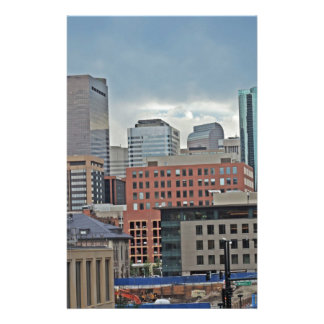 Horizonte céntrico de Denver Colorado Papelería