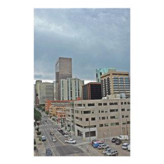 Horizonte céntrico de Denver Colorado Papelería De Diseño