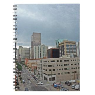Horizonte céntrico de Denver Colorado Spiral Notebook