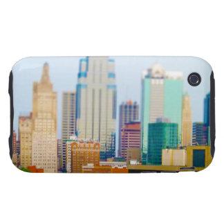 Horizonte céntrico de Kansas City de la alta Carcasa Though Para iPhone 3