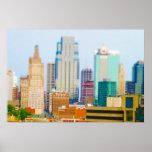 Horizonte céntrico de Kansas City de la alta subid Posters