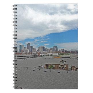 Horizonte céntrico de la ciudad de Denver Colorado Cuadernos