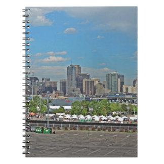 Horizonte céntrico de la ciudad de Denver Colorado Libro De Apuntes