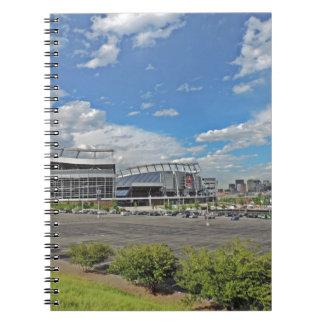 Horizonte céntrico de la ciudad de Denver Colorado Libro De Apuntes Con Espiral