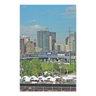 Horizonte céntrico de la ciudad de Denver Colorado Papelería Personalizada