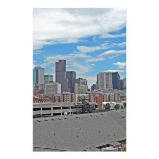Horizonte céntrico de la ciudad de Denver Colorado Papelería
