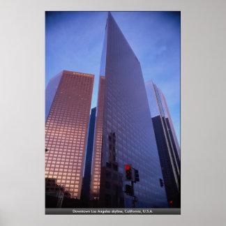 Horizonte céntrico de Los Ángeles, California, los Impresiones