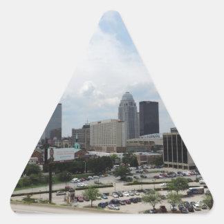 Horizonte céntrico de Louisville Pegatina Triangular