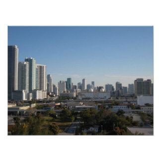 Horizonte céntrico de Miami Posters