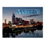 Horizonte céntrico de Nashville, Tennessee en la n Postal