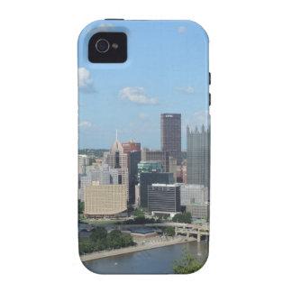 Horizonte céntrico de Pittsburgh de la antena iPhone 4/4S Carcasa