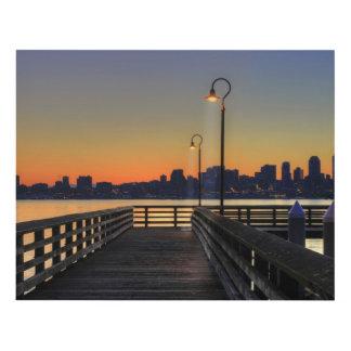 Horizonte céntrico de Seattle Washington