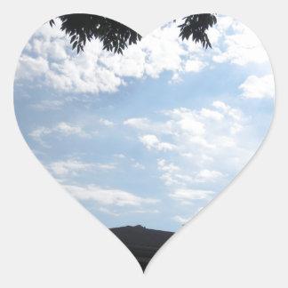 Horizonte CherryHill New Jersey NVN666 F de la Pegatina En Forma De Corazón