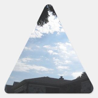 Horizonte CherryHill New Jersey NVN666 F de la Pegatina Triangular