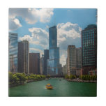 Horizonte Chicago Azulejo Cuadrado Pequeño