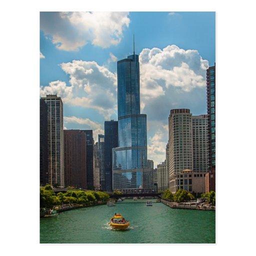 Horizonte Chicago Tarjeta Postal