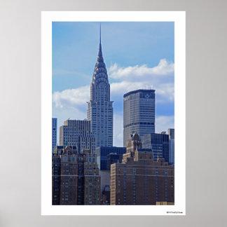Horizonte Chrysler de NYC que construye B1 Impresiones