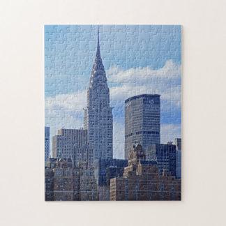 Horizonte Chrysler de NYC que construye B1 Puzzle Con Fotos