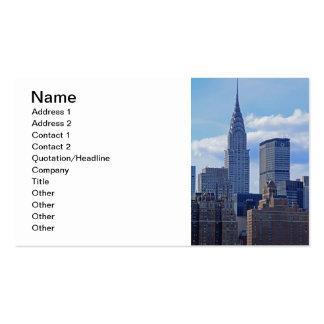 Horizonte Chrysler de NYC que construye B1 Tarjetas De Visita