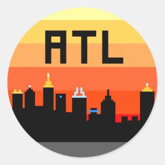 Horizonte de 8 bits ATL de Atlanta Pegatina