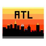 Horizonte de 8 bits ATL de Atlanta Tarjetas Postales