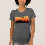Horizonte de 8 bits ATL de Atlanta Tee Shirts