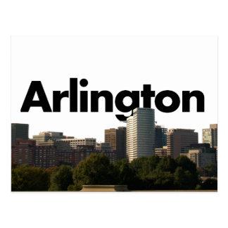 Horizonte de Arlington TX con Arlington en el Postal