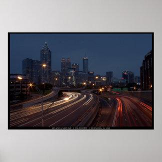 Horizonte de Atlanta en la oscuridad Póster
