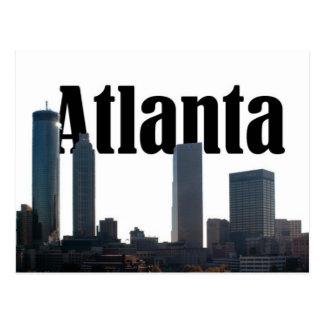 Horizonte de Atlanta Georgia con Atlanta en el Postal