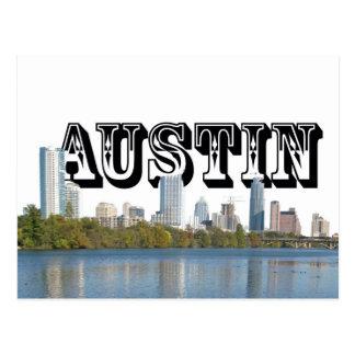 Horizonte de Austin Tejas con Austin en el cielo Tarjeta Postal
