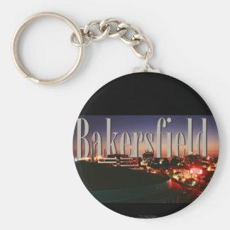 Horizonte de Bakersfield con Bakersfield en el cie Llavero Redondo Tipo Pin