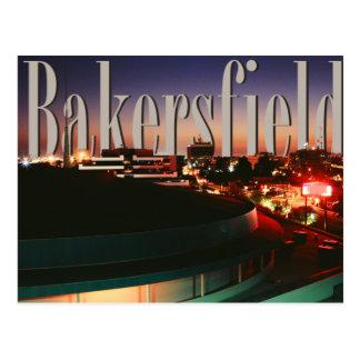 Horizonte de Bakersfield con Bakersfield en el Tarjeta Postal