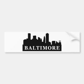 Horizonte de Baltimore Pegatina De Parachoque