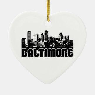 Horizonte de Baltimore Adorno De Cerámica En Forma De Corazón