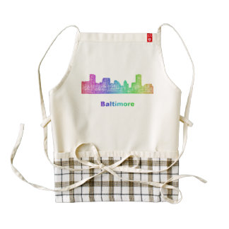 Horizonte de Baltimore del arco iris Delantal Zazzle HEART