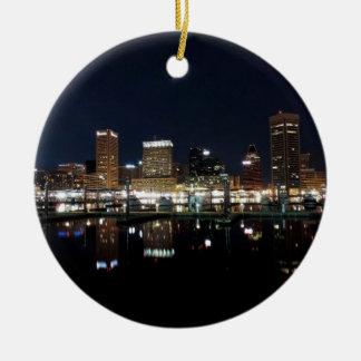 Horizonte de Baltimore en la noche Adorno De Reyes