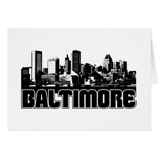 Horizonte de Baltimore Felicitación