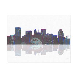Horizonte de Baltimore Maryland Impresiones En Lona