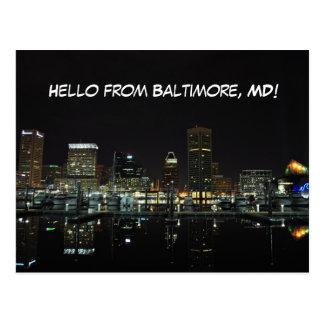Horizonte de Baltimore Tarjetas Postales