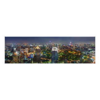 Horizonte de Bangkok Tailandia en el panorama de l Posters