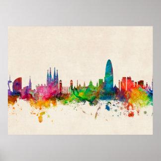 Horizonte de Barcelona España Poster