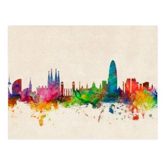 Horizonte de Barcelona España Tarjetas Postales