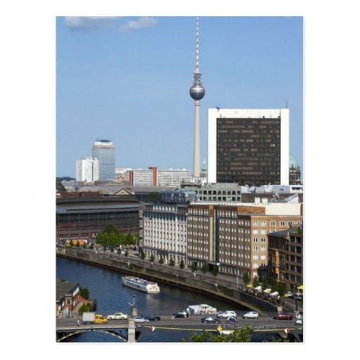 Horizonte de Berlín, Alemania Tarjeta Postal